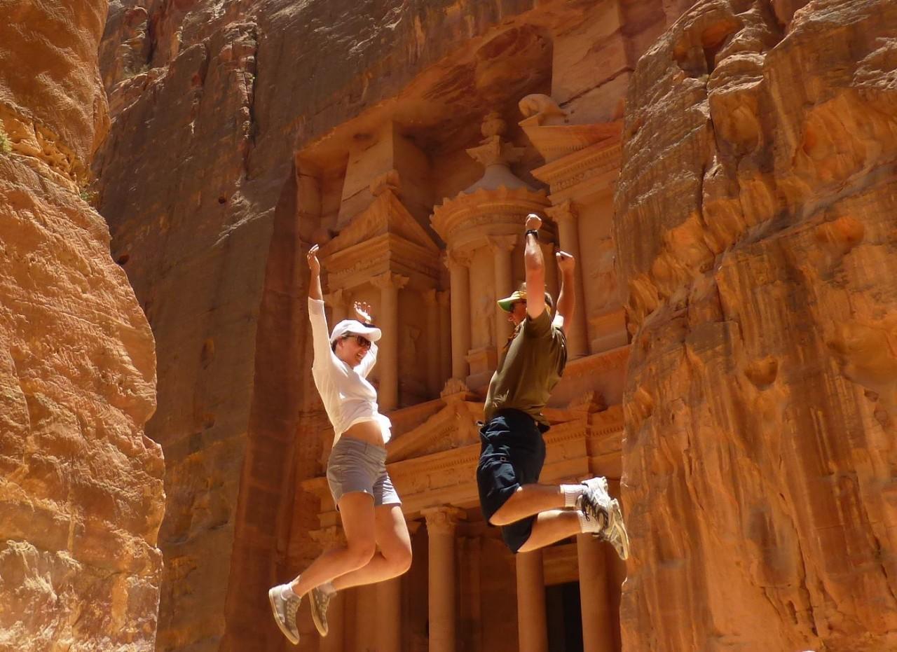 Tourist in Petra