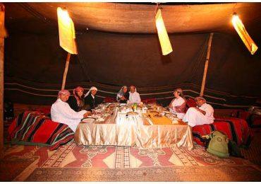 Dinner at Wadi Rum