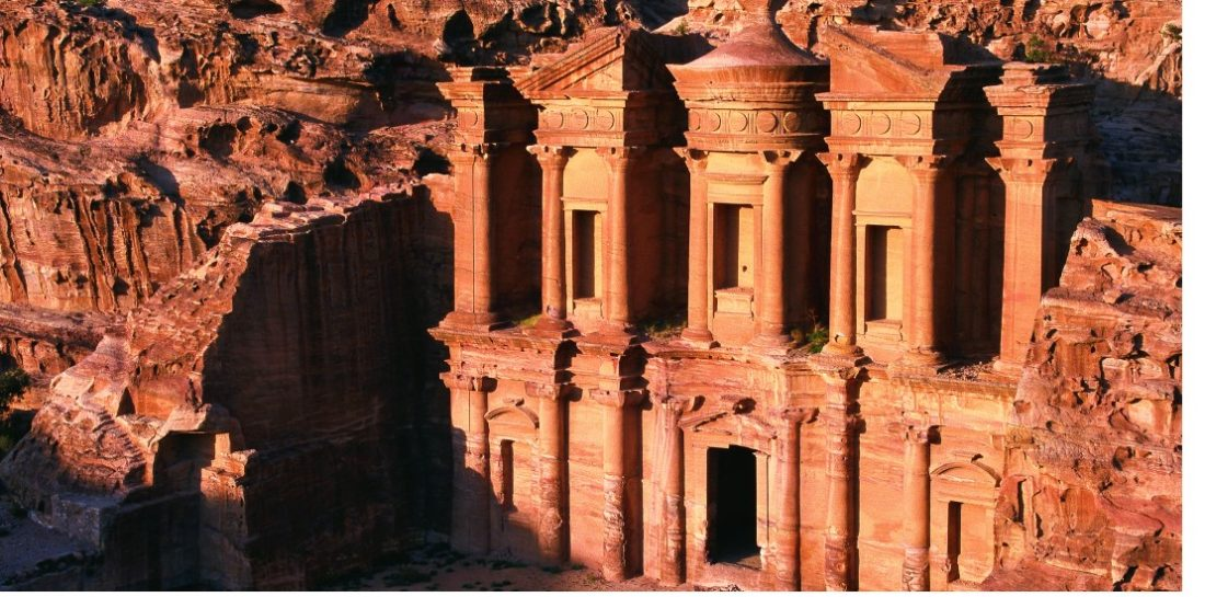 Monastery from the air Petra