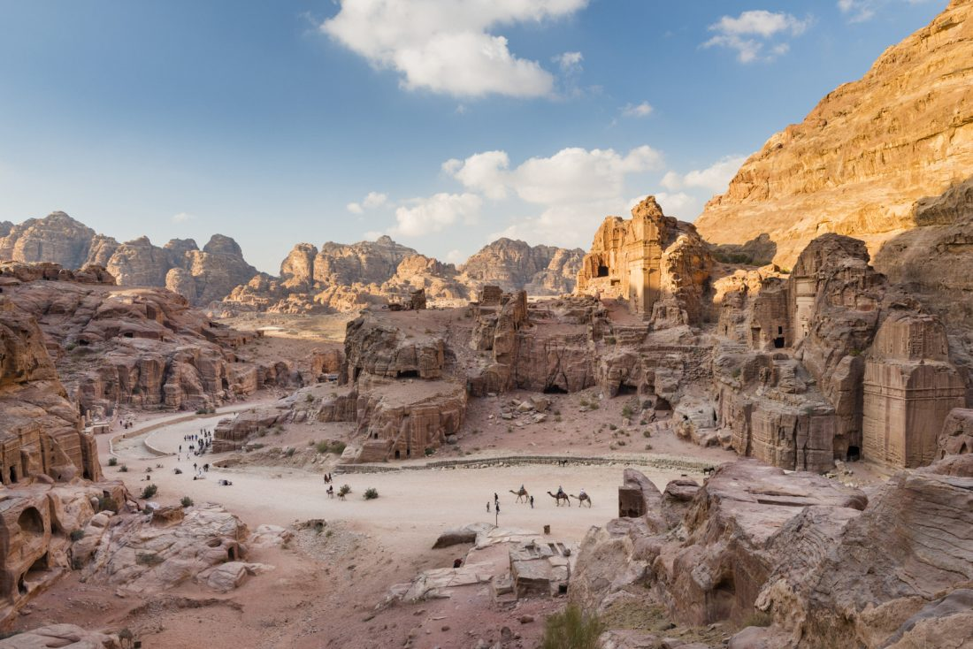 Petra view from way to high place of sacrifice